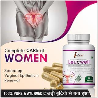 Inlazer Leucewell Herbal Capsules For Help In Reduce Leucorrhoea 500mg 100% Ayurvedic