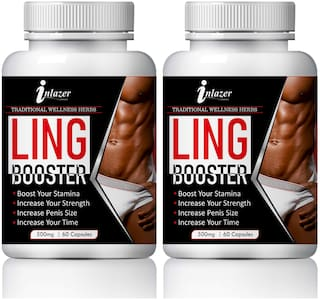 Inlazer Ling Booster Capsuless for Boost Your Sexual Stamina 100% Ayurvedic-60Capsules(Pack of 2)