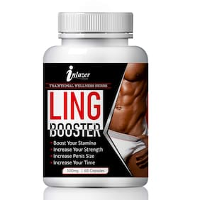 Inlazer Ling Booster Capsuless for Boost Your Sexual Stamina 100% Ayurvedic-60Capsules(Pack of 1)