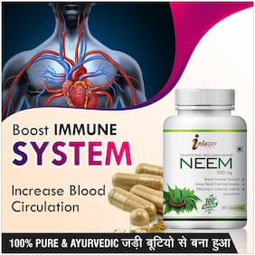 Inlazer Neem Herbal Capsules For Purifier Your Blood Cells 500mg 100% Ayurvedic