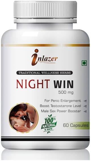 Inlazer Night Win Herbal Capsules For Improve Sexual Confidence 500mg 100% Ayurvedic