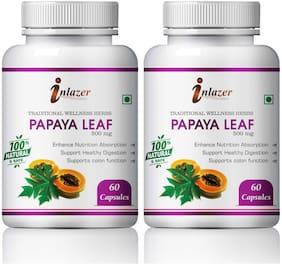 Inlazer Papaya Leaf Herbal Capsules For Anti- Maleria Properties 500mg 100% Ayurvedic