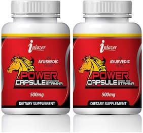 Inlazer Power Capsuless For Strength Enhancer 100% Ayurvedic -60Capsules(Pack of 2)