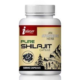 Inlazer Pure Shilajit For improve Strength 100% Ayurvedic-60Capsules(Pack of 1)
