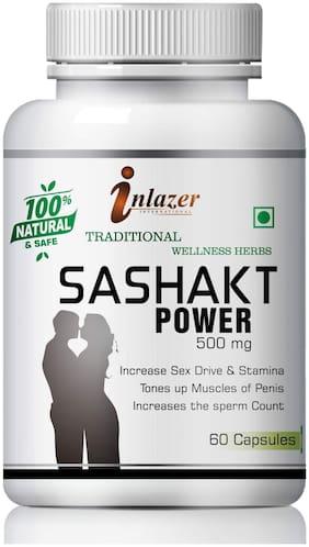 Inlazer Sashakt Power Herbal Capsules For Increase Male Power 500mg 100% Ayurvedic