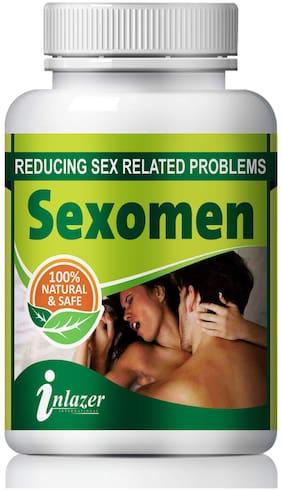 Inlazer Sexomen For Improve Sexual Confidence 100% Ayurvedic-60Capsules(Pack of 1)