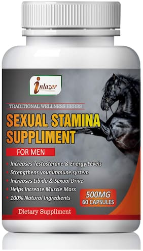 Inlazer Sexual health Suppliment for men For Male Booster 100% Ayurvedic-60Capsules(Pack of 1)