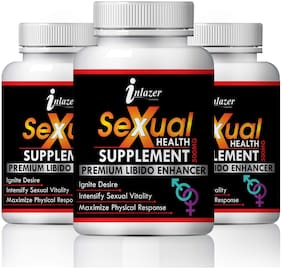 Inlazer Sexual health Suppliment For Male Booster 100% Ayurvedic-60Capsules(Pack of 3)