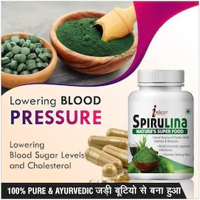 Inlazer Spirulina Herbal Capsules For Help In Many Nutrients 500mg 100% Ayurvedic
