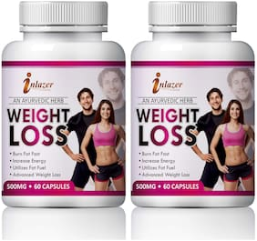 Inlazer Weight Loss Herbal Capsules For Helps To Fat Burning 500mg 100% Ayurvedic