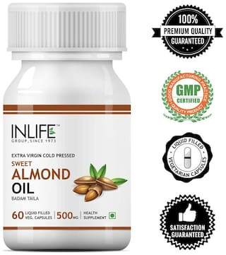 Inlife Almond Oil 60 Capsules
