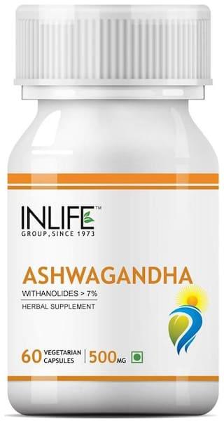 Inlife Ashwagandha Extract 500 mg 60 Capsules