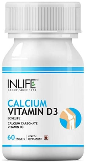 Inlife Calcium Vitamin D3 60 Tablets