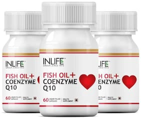Inlife Fish Oil (Omega 3) with Coenzyme Q10 60 Capsules (3-Pack)