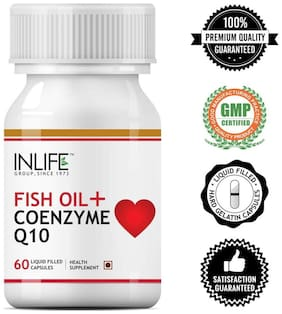 Inlife Fish Oil With Coenzyme Q10 60 Capsules