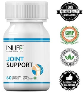 Inlife Joint Support Health Supplement with Expert Active Pain Relief, Boswellia Serrata, Guggul, Rasna and other Ayurvedic Herbs, 500 mg - 60 Vegetarian Capsules  (60 No)