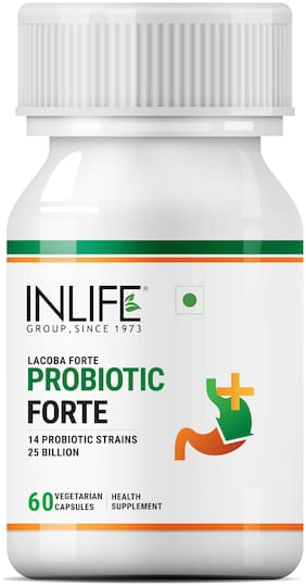INLIFE Lacoba Forte Probiotic Health Supplement 60 Vegetarian Capsules (Pack of 1)