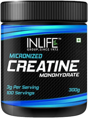 INLIFE Micronised Creatine Monohydrate Powder Supplement 300  gm  - Unflavoured