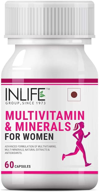 Inlife Multivitamin & Minerals Antioxidants for Women Daily Formula Vitamins Supplement - 60 Capsules