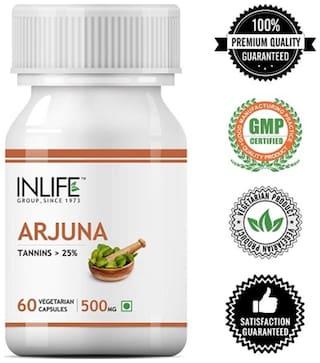 Inlife Natural Arjuna Extract 500mg 60 Veg Caps