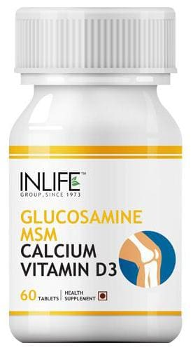 Inlife Supplement - Glucosamine MSM Calcium & Vitamin D3, For Joint Care 60 Tablets