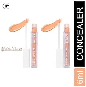 Insight 2X Cover Master Liquid concealer  (06-Golden Russet-6ml)(Pack of 2)