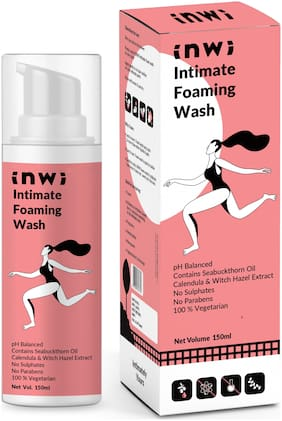 Intimate Foaming Wash with Seabuckthorn Oil, Calendula & Witch Hazel Extract by InWi - 150 ml