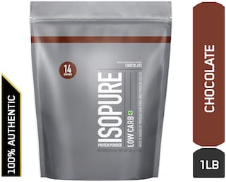 Isopure Low Carb 100% Whey Protein Isolate Powder - 0.45 kg (1 lb) (Dutch Chocolate)