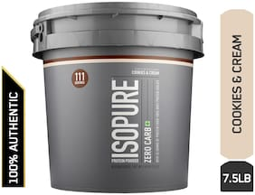 Isopure Zero Carb 100% Whey Protein Isolate Powder - 3.40 kg (7.5 lb) (Cookies & Cream)