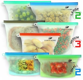 Its Time To Store Food Longer Leafy Home Reusable Silicone Food Bag 7 bags