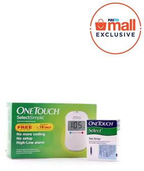 Onetouch Select Simple Glucometer (Box of 10 Test Strips Free)