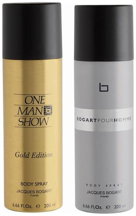 Jacques Bogart One Man Show Gold & Pour Homme Deo Combo Set(Pack of 2)