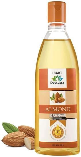 Jagat Almond Hair Oil With Vitamin E Nourishment Non Sticky And Non Greasy For Silkier & Strong Hair 200ml (Pack of 1)