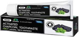 Jagat Devsutra Dr. Trusted Ayurvedic HERBAL Activated Charcoal Toothpaste for Teeth Whitening - 100% Natural Formula with Mint Flavour, No Fluoride & Artificial Colours (Activated Charcoal, Pack of 1)