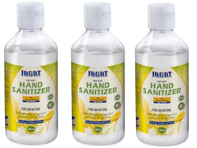 Jagat Hand Sanitizer 200 ml (Pack of 3)