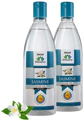 Jagat Jasmine Hair Oil With jasmine Extract Nourishment Non Sticky And Non Greasy For Silkier & Strong Hair-200ml (Pack of 2)