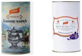 JAGS Kashmir Saffron Kahwa Tea 250 Gms & Kashmiri Kahwa Tea100 Gms Combo