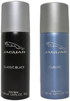 Jaguar Pk of 2 (Classic Black+Classic) Deo Combo Set(Pack of 2)