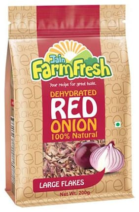 Jain Farm Fresh Dehydrated Red Onion Large Flakes 200 gm