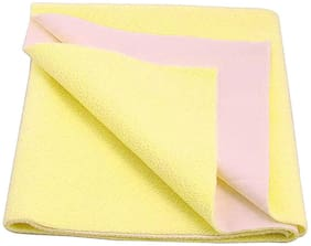 Jaipur Crafts Instadry Extra Absorbent Dry Sheet/Bed Protector/Waterproof Baby Dry Sheet  Yellow (Pack of 1) S