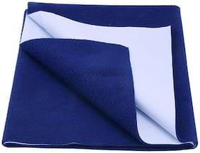 Jaipurcrafts Instadry Extra Absorbent Dry Sheet/Bed Protector/Waterproof Baby Dry Sheet  Navy Blue (Pack of 1) L