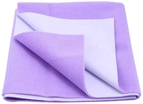 Jaipurcrafts Instadry Extra Absorbent Dry Sheet/Bed Protector/Waterproof Baby Dry Sheet  Violet (Pack of 1) M