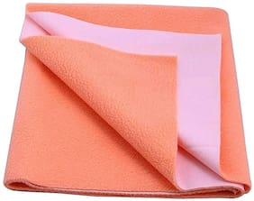 Jaipurcrafts Instadry Extra Absorbent Dry Sheet/Bed Protector/Waterproof Baby Dry Sheet  Peach (Pack of 1) L