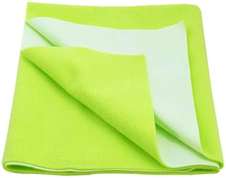Jaipurcrafts Instadry Extra Absorbent Dry Sheet/Bed Protector/Waterproof Baby Dry Sheet  Green (Pack of 1) M