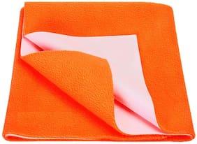 Jaipurcrafts Instadry Extra Absorbent Dry Sheet/Bed Protector/Waterproof Baby Dry Sheet  Orange (Pack of 1) M