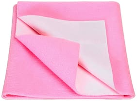 Jaipurcrafts Instadry Extra Absorbent Dry Sheet/Bed Protector/Waterproof Baby Dry Sheet  Pink (Pack of 1) L
