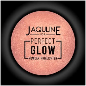Jaquline USA Perfect Glow Powder Highlighter Peach 5 g Pack of 1