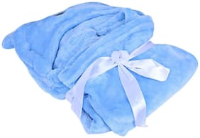 Jars Collections All Season Luxury Clothing Hooded Wrapper/Blanket/Towel For Babies Blue Pack Of 1