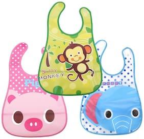 JARS Collections  Waterproof Baby Feeding Bib (Multi) (Pack of 3)