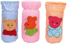 JARS Collections  Stretchable Baby Feeding Bottle Cover (Multi) (Pack of 3)